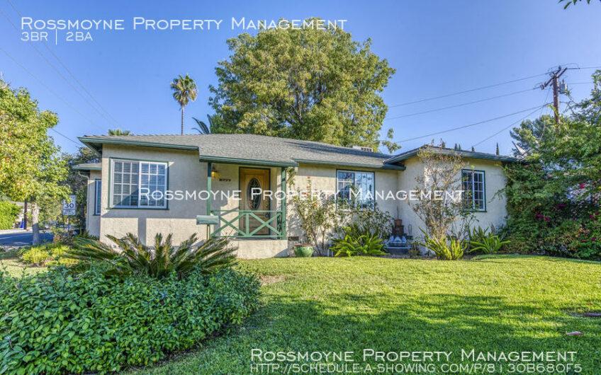 2777 Sanborn Ave La Crescenta, CA 91214 Outside