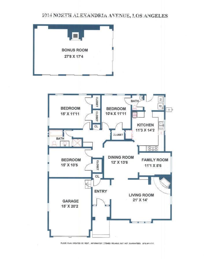 1014 N. Alexandria Ave Floor Plan