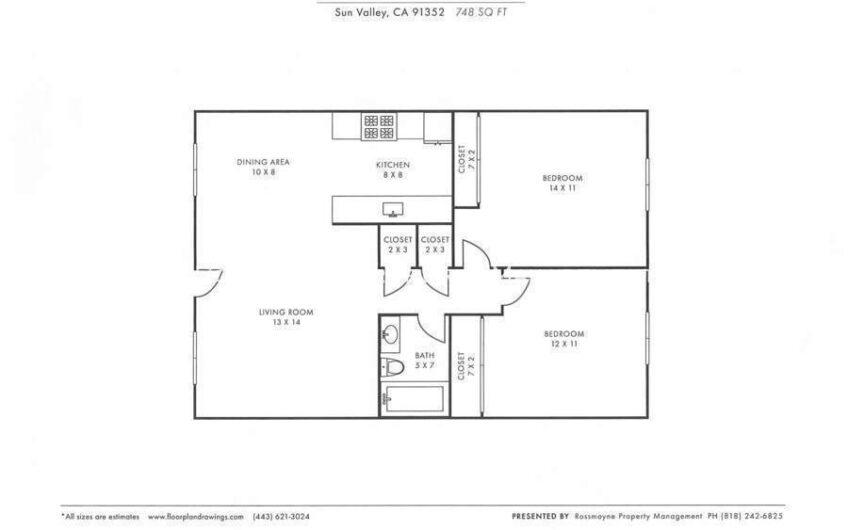 10817 White St - 210 Floor Plan